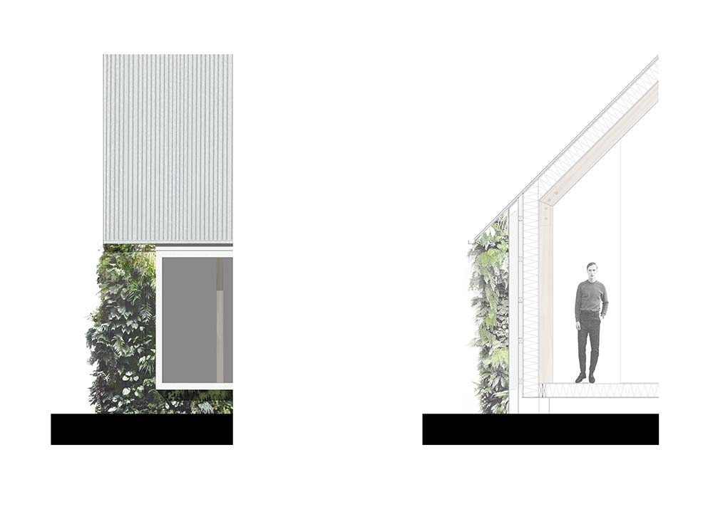 Prototype Home for Rural Living - green wall